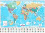 Collins World Wall Paper Map - Collins UK