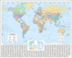 The Times World Wall Laminated Map - Collins UK