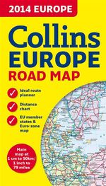 2014 Collins Map of Europe - Collins UK