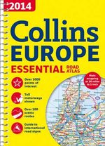 2014 Collins Essential Road Atlas Europe - Collins Maps