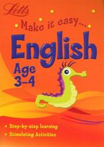 English : Letts Make It Easy - Age 3-4