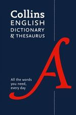 Collins English Paperback Dictionary and Thesaurus - Collins Dictionaries
