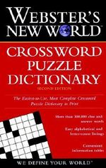 Webster's New World Crossword Puzzle Dictionary : Webster's New World - Jane Shaw Whitfield