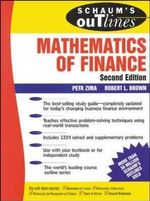 Schaum's Outline of Mathematics of Finance - Petr Zima