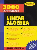 3000 Solved Problems in Linear Algebra - Seymour Lipschutz