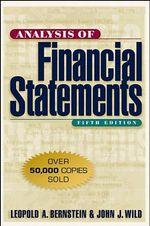 Analysis of Financial Statements - Leopold A. Bernstein