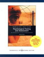 Psychological Testing and Assessment : An Introduction to Tests and Measurement - Ronald Jay Cohen