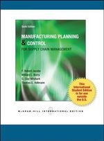 Manufacturing Planning and Control for Supply Chain Management - F. Robert Jacobs