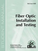 Fiber Optic Installation and Testing (400) - Paul W Lermitte
