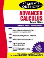 Schaum's Outline of Advanced Calculus, Second Edition - Robert Wrede