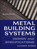 Metal Building Systems Design and Specifications : Design and Specifications - Alexander Newman