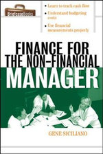 Finance for Non-Financial Managers - Gene Siciliano