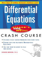 Schaum's Easy Outline of Differential Equations - Richard Bronson