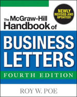 The McGraw-Hill Handbook of Business Letters : Intermediate Practice File Book - Roy W. Poe