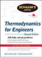 Schaum's Outline of Thermodynamics for Engineers - Craig W. Somerton