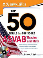 McGraw-Hill's Top 50 Skills For A Top Score : ASVAB Reading and Math: ASVAB Reading and Math with CD-ROM - Dr. Janet Wall