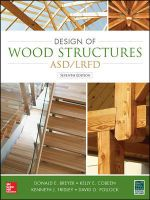 Design of Wood Structures-ASD/LRFD - Donald E. Breyer