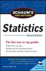 Schaum's Easy Outline of Statistics : Schaum's Outline Series - David  P. Lindstrom
