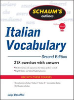 Schaum's Outline of Italian Vocabulary : Schaum's Outline Ser. - Luigi Bonaffini