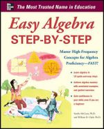 Easy Algebra Step-by-Step : Easy Step-By-Step - Sandra Luna McCune