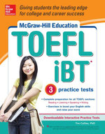 McGraw-Hill Education TOEFL iBT with 3 Practice Tests and DVD-ROM - Tim Collins