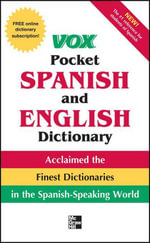 Vox Pocket Spanish-English Dictionary - Vox