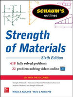 Schaum's Outline of Strength of Materials : Schaum's Outlines - William Nash