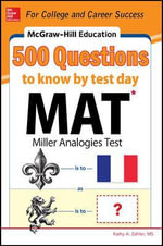 McGraw-Hill Education 500 MAT Questions to Know by Test Day - Kathy Zahler
