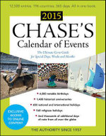 Chase's Calendar of Events 2015 - Editors Of Chase's Calendar Of Events