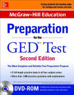 McGraw-Hill Education Preparation for the GED Test with DVD-ROM : 2nd Edition - Cynthia Johnson