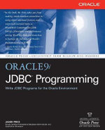 Oracle9i JDBC Programming - Jason Price