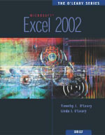 The O'Leary Series : Excel 2002 - Timothy J. O'Leary