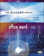 Microsoft Office Word 2003 : Microsoft Office Word 2003 Introductory - Timothy J. O'Leary