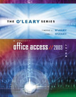Microsoft Access 2003 : With Student Data File CD - Timothy J. O'Leary