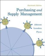 Purchasing and Supply Management - Michiel R. Leenders