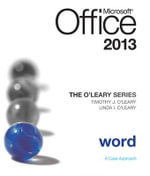 O'Leary Series : Microsoft Office Word 2013, Introductory - Linda I. O'Leary