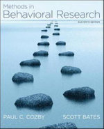 Methods in Behavioral Research : Understanding Statistics Ser. - Paul C. Cozby