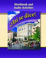 Asi Se Dice, Level 1, Workbook and Audio Activities - McGraw-Hill/Glencoe