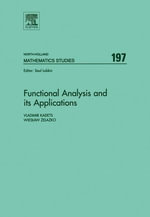Functional Analysis and its Applications : Proceedings of the International Conference on Functional Analysis and its Applications dedicated to the 110 - Vladimir Kadets