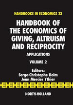 Handbook of the Economics of Giving, Altruism and Reciprocity : Applications