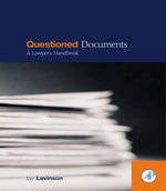 Questioned Documents : A Lawyer's Handbook - Jay Levinson