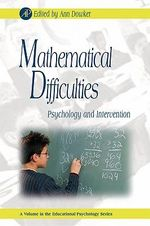 Mathematical Difficulties : Psychology and Intervention