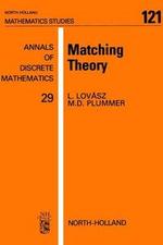 Matching Theory - M.D. Plummer