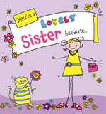 You're a Lovely Sister Because... : Suga-Lumps Giftbook - Ged Backland