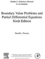 Student Solutions Manual, Boundary Value Problems : and Partial Differential Equations - David L. Powers