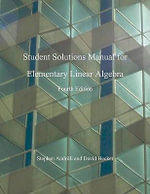 Elementary Linear Algebra, Students Solutions Manual - Stephen Andrilli