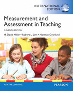 Measurement and Assessment in Teaching : An Introduction to Ecosystem Hydrodynamics - M. David Miller
