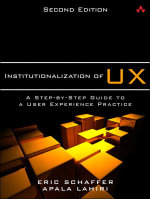 Institutionalization of UX : A Step-by-Step Guide to a User Experience Practice, 2/e - Eric Schaffer
