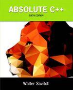 Absolute C++ - Walter J. Savitch