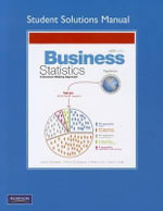 Student Solutions Manual for Business Statistics : Chemical and Metabolic Analysis - David F. Groebner